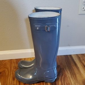 Tall Gray Hunter Boots Size 7